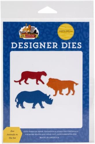 Carte Bella Dies-Zoo Animals #1 Perspective: front