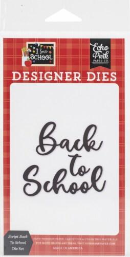 Echo Park Dies-Script Back To School Perspective: front