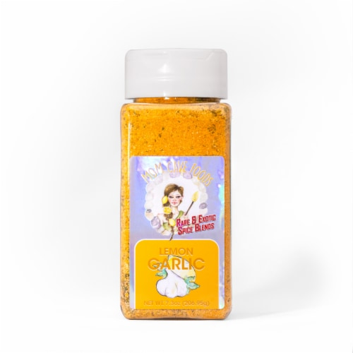 Mom Cave Sour Lemon Pepper Spice Blend Perspective: front