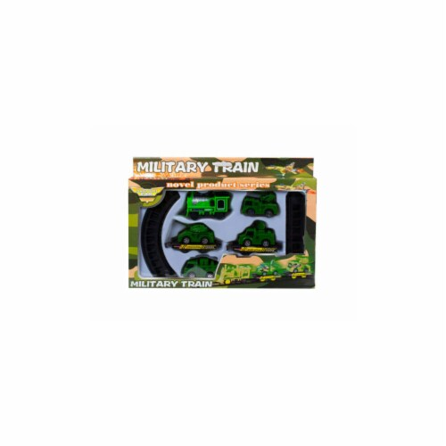 Kole Imports OT966-8 Battery Operated Military Train with Rails - Pack of 8 Perspective: front