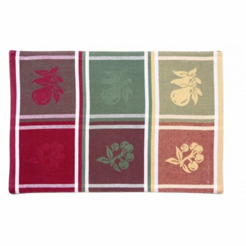 Mr. MJs Trading AG-02377S-4 19 in. Ribbed Placemats, Red Cherry - Set of 4 Perspective: front