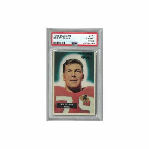 Athlon Sports CTBL-024932 Bob St. Clair San Francisco 49ers 1955 Bowman Football Card No.101- Perspective: front