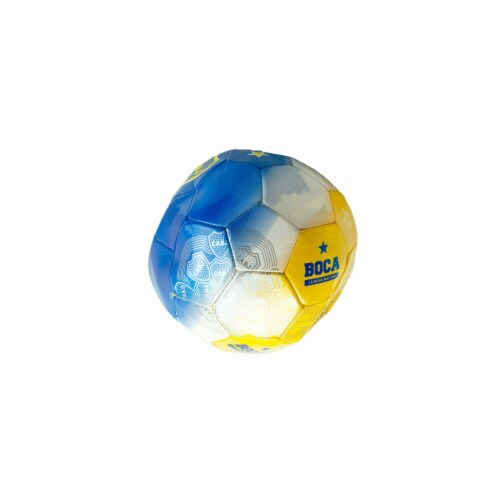 Kole Imports OT945-8 Size 5 Argentina Boca Jrs Tri-Color Soccer Ball - Pack of 8 Perspective: front
