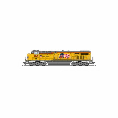 Broadway Limited BLI3902 N Scale GE ES44AC, Paragon3 DCC Sound, Union Pacific No.8098 Model T Perspective: front