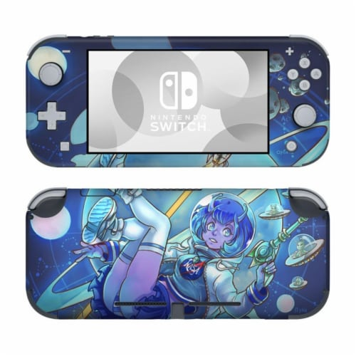 DecalGirl NSL-COMEIN Nintendo Switch Lite Skin - We Come in Peace Perspective: front