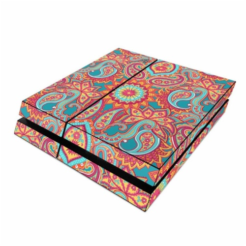 DecalGirl PS4-CARNIVALPAISLEY Sony PS4 Skin - Carnival Paisley Perspective: front