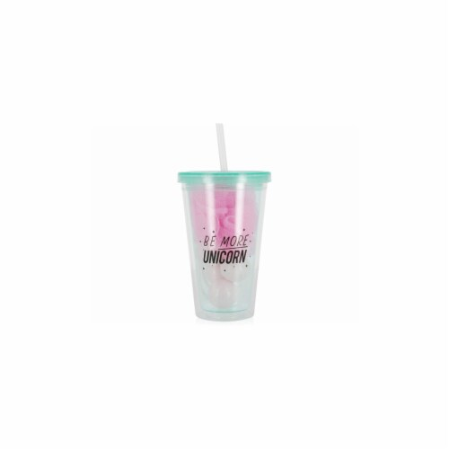 Kole Imports CA483-12 Unicorn Tumbler Set with Bath Bombs Scrubber - Case of 12 Perspective: front