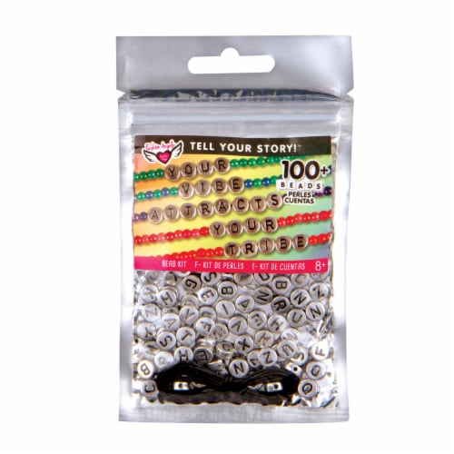 Fashion Angels Tell Your Story Alphabet Bead Kit - Silver Perspective: front