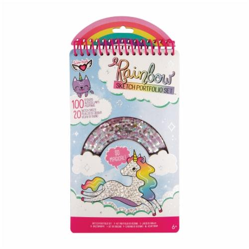 Fashion Angels Rainbow Sketch Portfolio Set Perspective: front