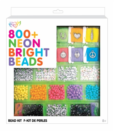 Fashion Angels Neon Bright Bead Kit 800 Piece Perspective: front