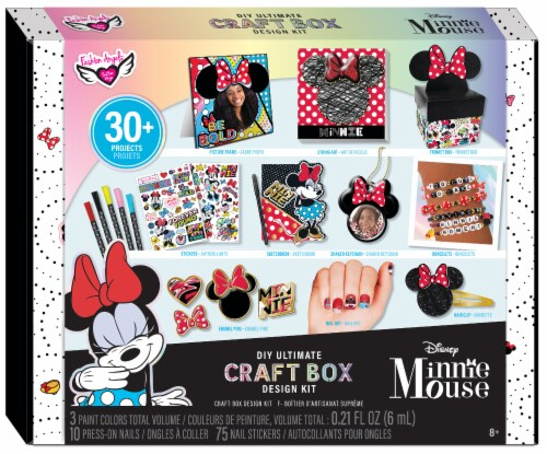 Fashion Angels Disney Minnie Mouse DIY Ultimate Craft Box Design Kit Perspective: front