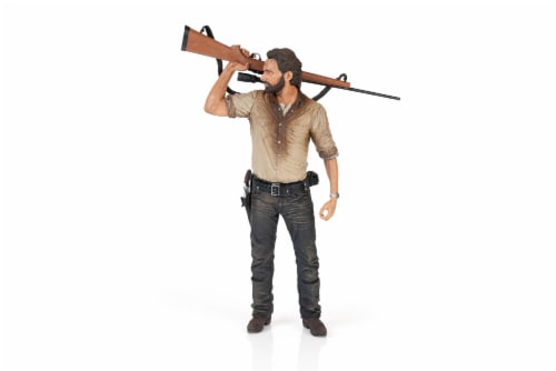 The Walking Dead Rick Grimes Deluxe Poseable Figure | Measures 10 Inches Tall Perspective: front