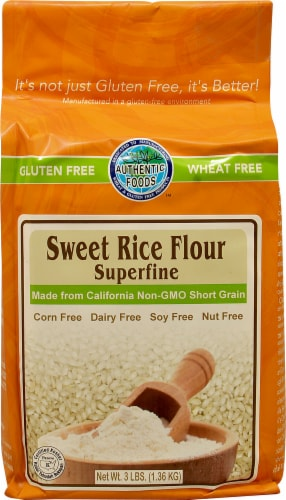 Authentic Foods  Sweet Rice Flour Superfine Gluten Free Perspective: front
