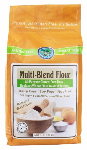 Authentic Foods  Multi-Blend Flour Gluten Free Perspective: front
