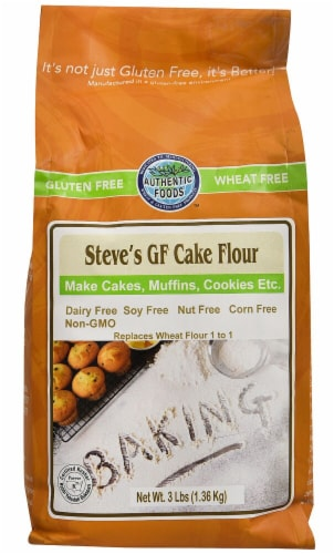 Authentic Foods  Steve's Gluten Free Cake Flour Perspective: front