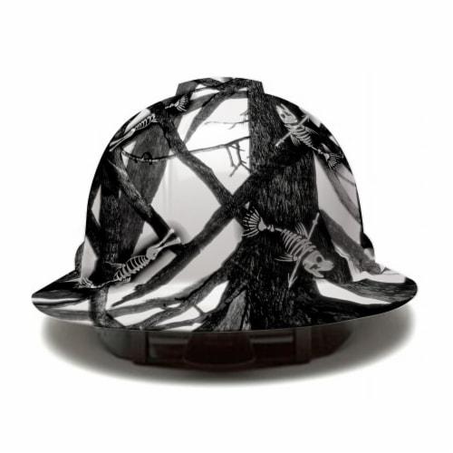 AcerPal 1TT1WH4M-AK1 Fish Bare Bones Hard Hat Helmet w/ 3 Pack Blue Sweatbands Perspective: front
