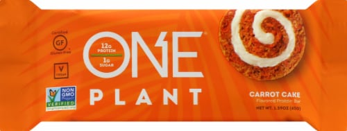 ONE Plant Carrot Cake Bar Perspective: front