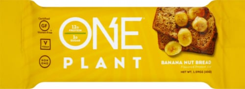 ONE Bar Plant Banana Nut Bread Protein Bar Perspective: front
