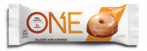 ONE Maple Glazed Doughnut Protein Bar Perspective: front