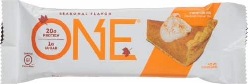 ONE Pumpkin Pie Protein Bar Perspective: front