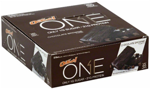 ONE Chocolate Brownie Protein Bars 12 Count Perspective: front