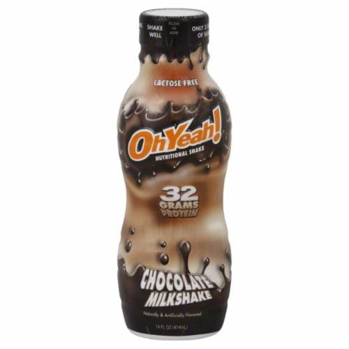 Oh Yeah! Chocolate Milkshake Nutritional Shake Perspective: front