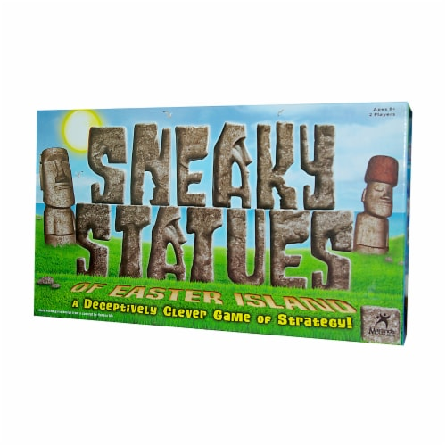 University Games Sneaky Statues of Easter Island Baord Game Perspective: front