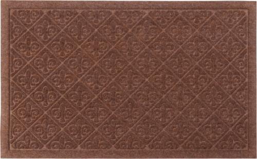 Entryways Weather Beaters Collection Fleur de Lis Doormat - Cinnamon Perspective: front