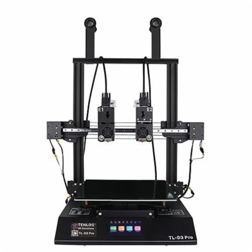 Tenlog TMC2209 Driver TL-D3 Pro Dual Extruder 3D Printer with Duplicate Printing Perspective: front