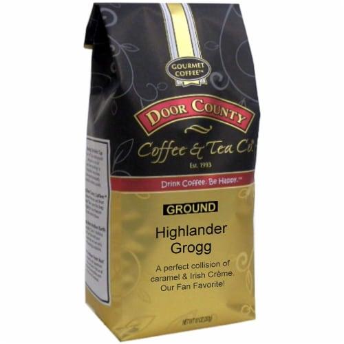 Door County Highlander Grogg Ground Coffee Perspective: front