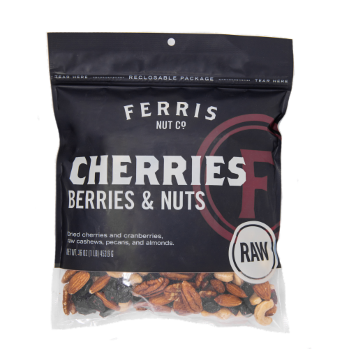 Ferris Raw Cherries Berries & Nuts Trail Mix Perspective: front
