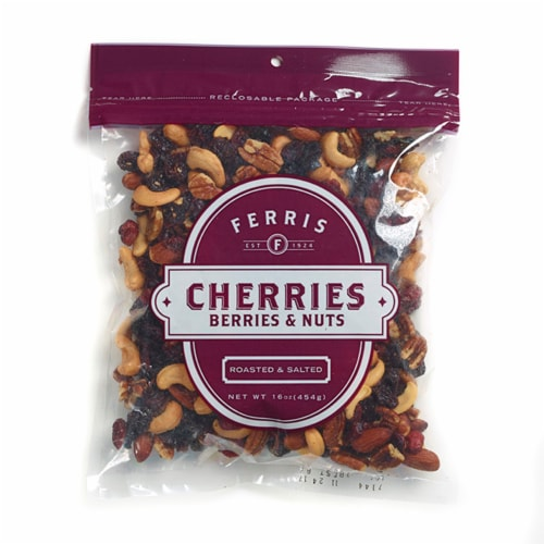 Ferris Roasted & Salted Cherries Berries & Nuts Trail Mix Perspective: front