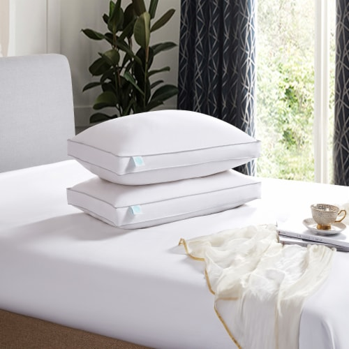 Martha Stewart 240 Thread Count White Feather & Down Pillow - Jumbo Perspective: front