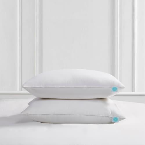 Martha Stewart 240 Thread Count Feather & Down Pillow - 2pk - Standard / Queen Perspective: front