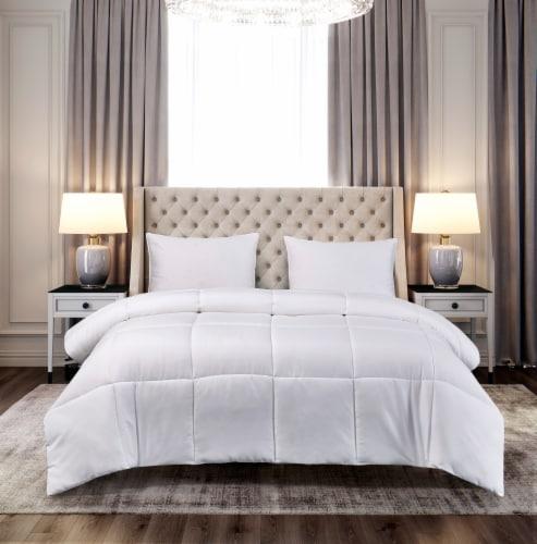Microfiber Down Alternative Comforter - White, King Perspective: front