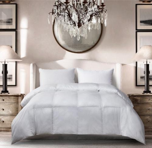 Microfiber All Season Down Alternative Comforter - White, King Perspective: front