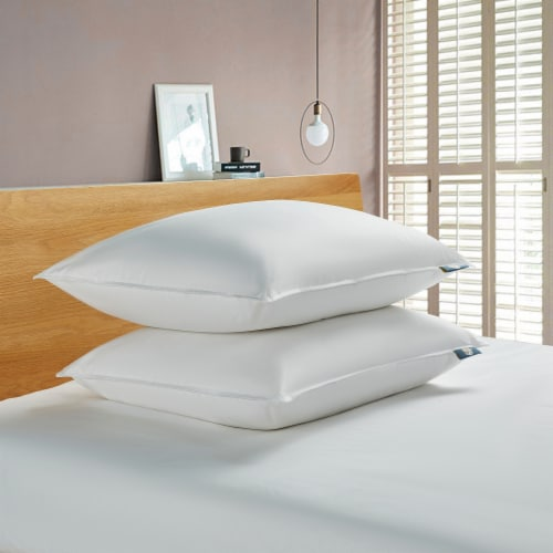 Serta 233 Thread Ct White Goose Feather & White Goose Down Fiber Pillow - Jumbo Perspective: front