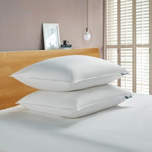 Serta 233 Thread Ct White Goose Feather & White Goose Down Fiber Pillow - King Perspective: front