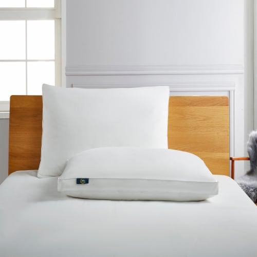 Serta 233 Thread Ct White Goose Feathers & White Goose Down Fiber Pillow - Jumbo Perspective: front