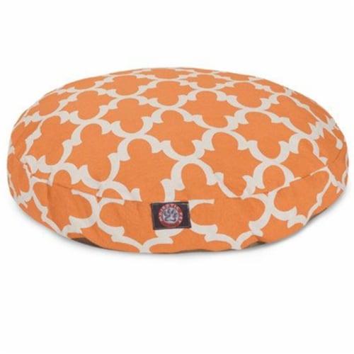 MajesticPet 788995508809 36 in. Trellis Round Pet Bed, Apache Orange - Medium Perspective: front
