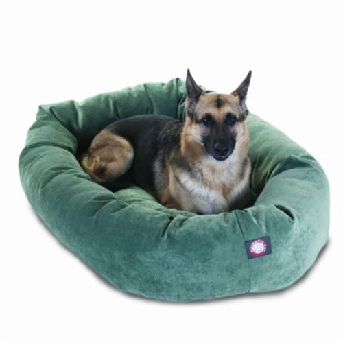 MajesticPet 788995528555 52 in. Villa Donut Pet Bed, Azure Perspective: front