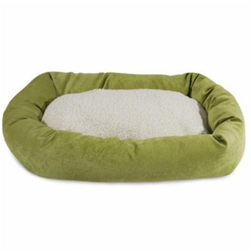 MajesticPet 788995540557 25 in. Villa Sherpa Donut Pet Bed, Azure Perspective: front