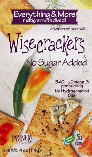 Wisecrackers Everything & More Multigrain Snack Crackers Perspective: front