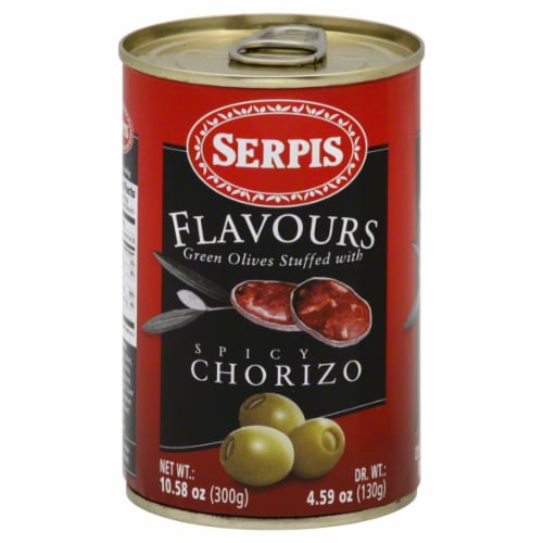 Sepris Plavours Green Olives Stuffed With Spicy Chorizo Perspective: front