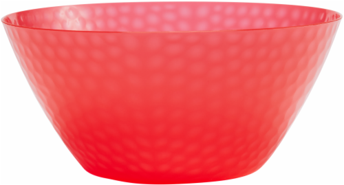TarHong Hammered Serving Bowl - Red Perspective: front