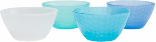 TarHong Cool Hammered Tidbit Bowl Set - 4 pk - Blue/White Perspective: front