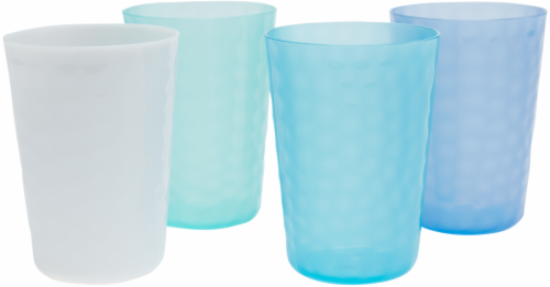 TarHong Cool Hammered Juice Tumbler Set - 4 pk - Blue/White Perspective: front
