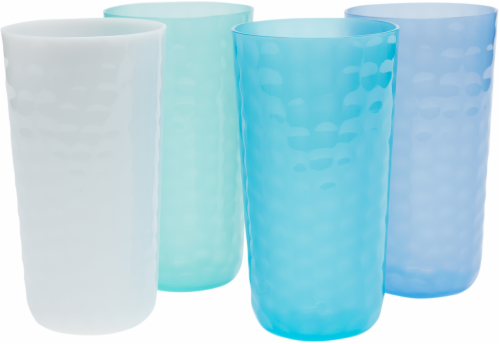 TarHong Cool Hammered Jumbo Tumbler Set - 4 pk - Blue/White Perspective: front