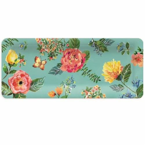 TarHong Garden Floral Rectangular Platter Perspective: front