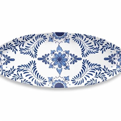 Tarhong RF2024WOPCC Cobalt Casita Oval Platter Perspective: front